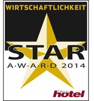 GRIPSS gewinnt den TOP HOTEL STAR AWARD 2014 Wirtschaftlichkeit