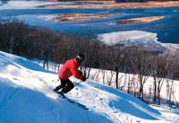 Skifahren und Snowboarding am Mississippi
