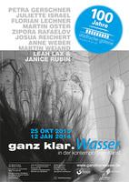 Vernissage: ganz klar.Wasser in der kontemporären Kunst  Do., 24.10.2013, 19 Uhr, Städtische Galerie Rosenheim