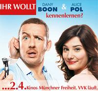 Star-Besuch: Dany Boon & Alice Pol präsentieren Superhypochonder,  Kinos Münchner Freiheit, 2.4.2014, 19:30 Uhr Vorstellung