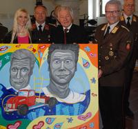 LH Dr. Josef Pühringer eröffnet Ausstellung von Tanja Playner.
