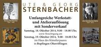 Auflösung Künstleratelier Ute und Georg Sternbacher 18./19. Oktober 2014