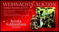 Weihnachtsauktion am 6. Dezember 2014 im Auktionshaus Ginhart