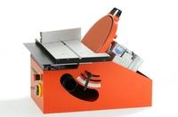 Erste Tisch-Scheibenschleifmaschine mit schwenkbarem Schleifteller