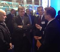 CeBIT 2012 - Sabienzia-Geschäftsführer Hartmut Beyer trifft Minister Ralf Christoffers