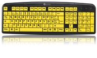GeneralKeys Komfort-Tastatur mit kontraststarken Großschrift-Tasten