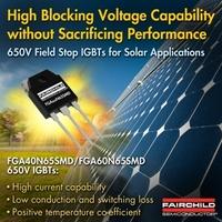 650V Field Stop IGBTs von Fairchild Semiconductor verbessern den Wirkungsgrad und die Systemzuverlässigkeit von Umrichtern