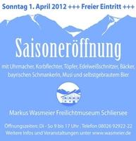 Markus Wasmeier Freilichtmuseum Schliersee startet am 1.4. in die Saison 2012