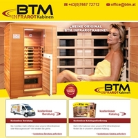 BTM Infrarotkabinen - Relaunch der Website btm.at