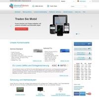 Admiral Markets startet neue Webseite