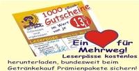 """Ein Herz für Mehrweg """"Leserpässe"""" für 1000 Gutscheine"""