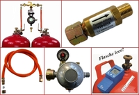 Zubehör für Gasgeräte zum Betrieb mit Flüssiggas und Propangas