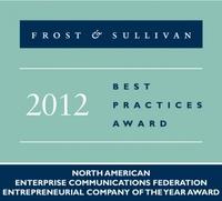 "Frost & Sullivan names ESTOS ""2012 Entrepreneurial Company of the Year"""