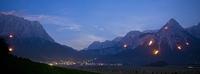 Zugspitze in Flammen