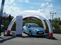 Citroen showcase under the X-GLOO tent