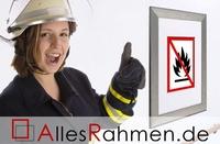 AllesRahmen sorgt für Brandschutz - mit neuen günstigen und zertifizierten Brandschutz-Bilderrahmen