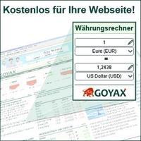 Finanzportal GOYAX launcht kostenloses Währungsrechner Widget
