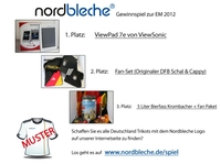 Gewinnspiel bei Nordbleche mit Preisen passend zur Fußball EM 2012