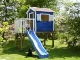 Anbaumodule Schaukel und Rutsche für das Kinderspielhaus