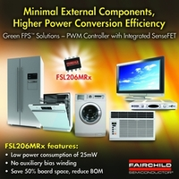 Umweltfreundlicher FPSTM Leistungsschalter mit integrierter Schutzschaltung von Fairchild Semiconductor macht Schaltnetzteile zuverlässiger und kleiner