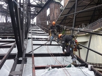 18 Tonnen neuer Stahl - Instandsetzung eines Weltkulturdenkmals in luftiger Höhe
