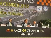 Großevent in Bangkok - Im Dezember findet das Race of Champions statt.