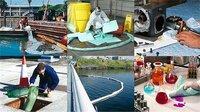 Bindemittel und Bindevliese zum Beseitigen von Öl, Chemikalien und sonstigen Flüssigkeiten