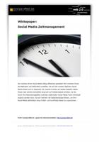 synergie-effekt.net veröffentlicht kostenlosen Ratgeber für mehr Zeit beim Social Media Management