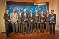 """Fujitsu wird von Continental mit dem Automotive """"Supplier of the Year 2011"""" Award in der Kategorie Mikrocontroller ausgezeichnet"""