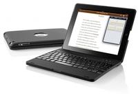 GeneralKeys iPad Netbook-Case mit 4000 mAh Akku & Bluetooth Tastatur fuer iPad 2 / iPad 3