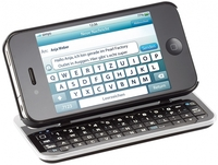 Callstel Keyboard-Case fuer iPhone 4/4S, beleuchtet, neigbar
