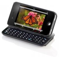 Callstel Keyboard-Case für iPhone 4/4S, beleuchtet, neigbar