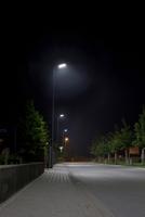 Moderne Straßenbeleuchtung mit LED-Leuchten