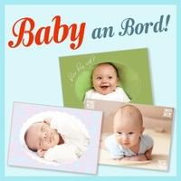Baby an Bord! Eine persönliche Grußkarte zur Geburt.