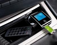 auvisio Bluetooth-Freisprecher mit FM-Transmitter FMX-550.BT