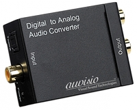 auvisio S/PDIF-Audio-Adapter Toslink/Koaxial-Digital auf analog Cinch