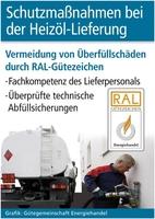 Schutzmaßnahmen bei der Heizöl-Lieferung: