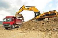 Baumaschinen sicher transportieren