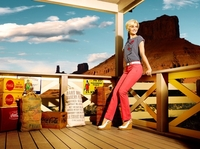 Model der Düsseldorfer Agentur MODEL POOL International Model Management NINA MEISE in der aktuellen GERKE MY PANTS Kampagne