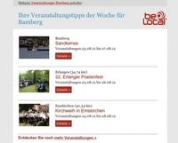 Freizeit- und Reiseführer beLocal startet lokalen Veranstaltungskalender per Email