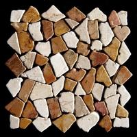 Marmorbruchsteinmosaik als Mosaikfliesen auf Netz