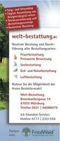 FriedWald® Waldführungen Naturbestattung Einladung zu einem kostenfreien Ausflug zum Schwanberg