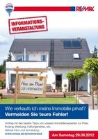 """RE/MAX Info-Abend für Immobilienverkäufer: """"Wie verkaufe ich meine Immobilie privat? Vermeiden Sie teure Fehler!"""""""