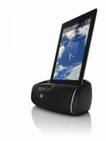 JBL Docking Station OnBeat aWake mit Bluetooth verwandelt das iPad in ein modernes Nachttisch-Soundsystem