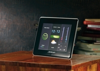 Somikon Digitaler 3in1-Bilderrahmen mit Funk-Wetterstation, MP3-Player