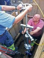 Kostensparende Problemsuche mit der Städtler + Beck Gas-/Wasserschleuse   für TV-Inspektionskameras.