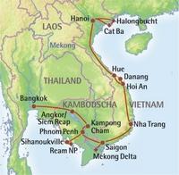 Indochina erleben - Abenteuerliche Overlandtour durch Thailand, Kambodscha und Vietnam