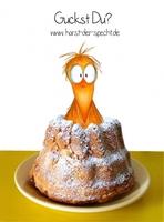 Kinder backen Kekse mit einem Vogel namens Horst