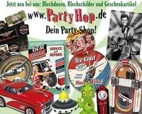 Neu bei Party-Hop: Blechdosen, Blechschilder und Geschenkartikel aus Blech