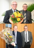 20-jährige Dienstjubiläen bei der Rüsselsheimer Volksbank eG am 1. Oktober 2012